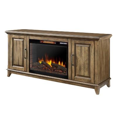 "60"" Marcus Electric Fireplace with Bluetooth Antique Pine Finish - Muskoka"