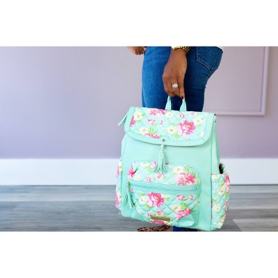 Laura Ashley Floral and Mint Diaper Bag