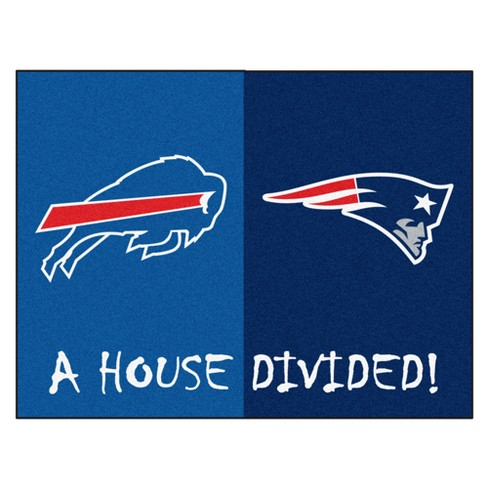 NFL New England Patriots Buffalo Bills House Divided Rug 33.75