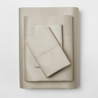 Performance Sheet Set (King)Linen Brown 400 Thread Count - Threshold™