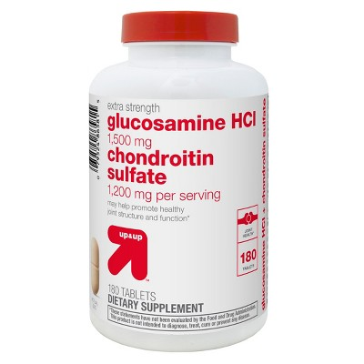Extra Strength Glucosamine Chondroitin Sulfate Dietary Supplement Tablets - 180ct - up & up™