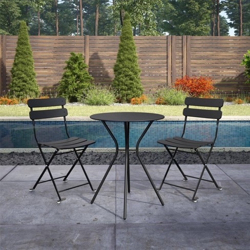 Cosco 3pc Bistro Set with 2 Folding Chairs - Black - image 1 of 4
