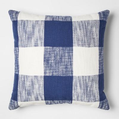 Blue Gingham Throw Pillow - Threshold™