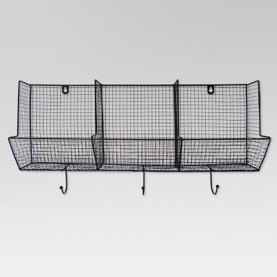Wire Basket with Hooks 3-Slot (12 X24 )- Threshold™