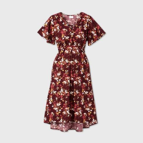 Short Sleeve Woven Maternity Dress Isabel Maternity By Ingrid Isabel Target