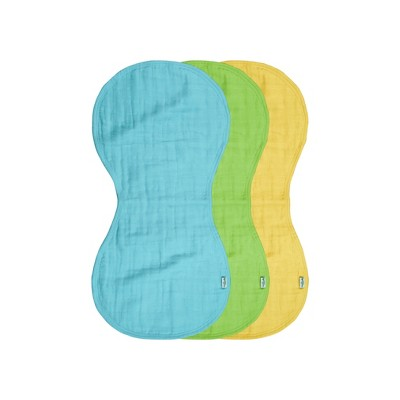 green sprouts® Organic Cotton Muslin Burp Cloths 3 pack - Aqua