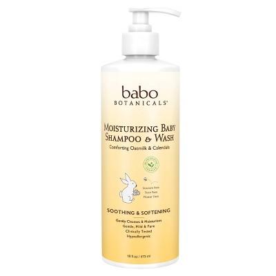 Babo Botanicals Moisturizing 2-in-1 Oatmilk & Calendula Baby Shampoo & Wash - 16 fl oz