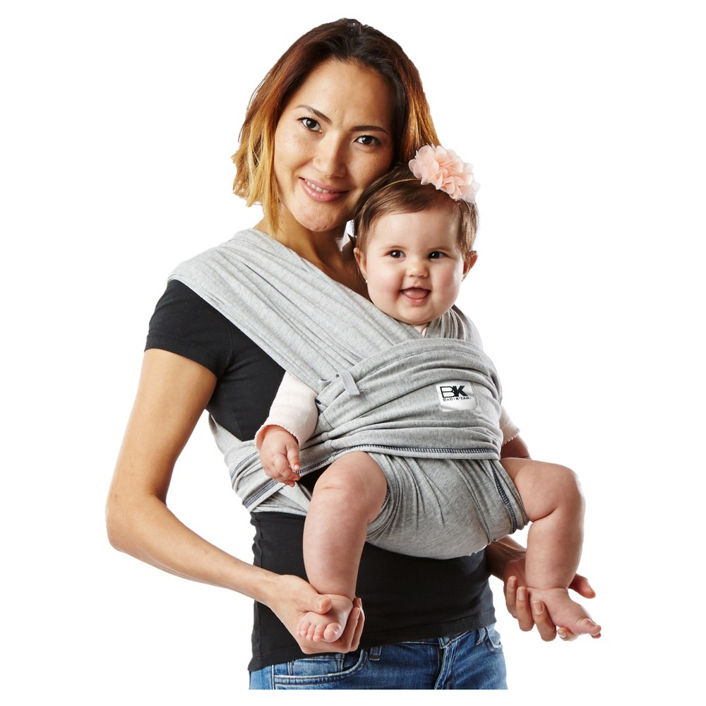 Baby K'tan Original Baby Carrier, Heather Gray, Large A wrap-style baby carrier without the wrapping. The award-winning Baby K'tan Baby Carrier lets you enjoy hands-free, hassle-free, buckle-free baby wearing anytime, anywhere. This ready-to-wear cotton wrap slips on easily like a T-Shirt and is individually sized XS to XL for the perfect fit. Its patented double-loop design and unique one-way stretch delivers the security you want and the versatility you need to be on the go and snuggle your little one close. Moms can even nurse discreetly and bond through skin-to-skin care modestly. No buckling or excess wrapping to confuse or frustrate you. All Baby K'tan Baby Carriers come in a matching carry bag that converts to a sash which provides added support for certain positions in your Baby K'tan Baby Carrier. Size: L.