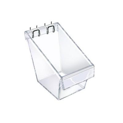 Azar Displays 4pk Large Display Bucket Slatwall / Pegboard with C - Channel
