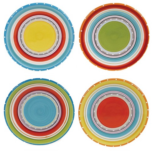 "Certified International Mariachi Earthenware Appetizer Plates (6"") Orange - Set of 4 - image 1 of 1"