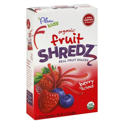 Plum Kids Organic Fruit Shredz Berrylicious 3.15 oz - image 1 of 1
