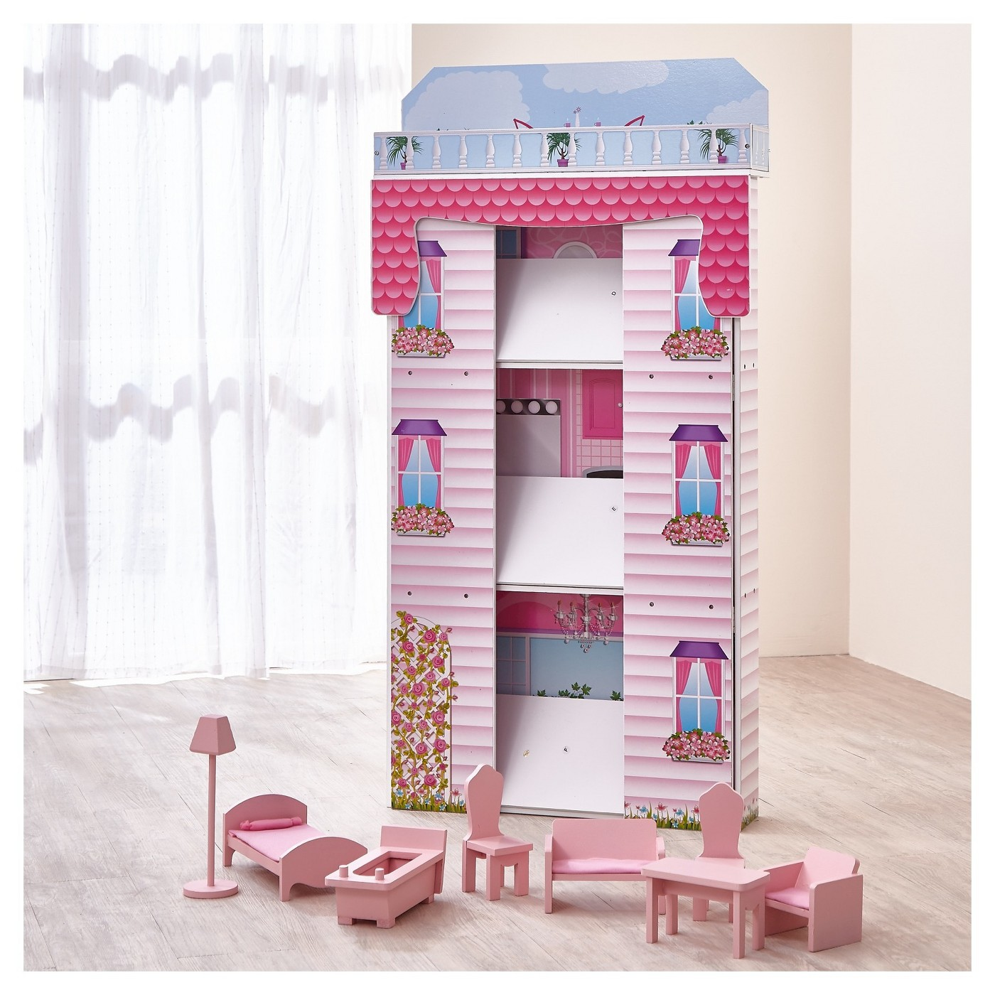Teamson Kids Glamour Mansion Foldin Doll House - image 3 of 13