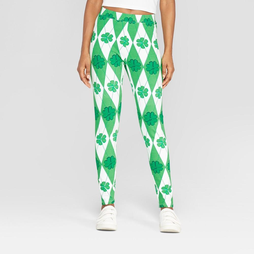 Women's Argyle Clovers Leggings - 33 Degrees (Juniors') Green S