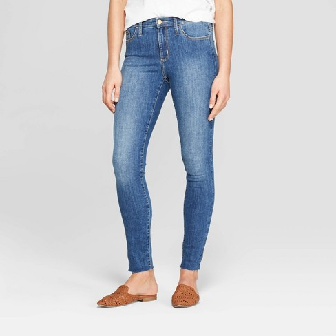 Women's High-Rise Skinny Jeans - Universal Thread™ Medium Wash - image 1 of 3