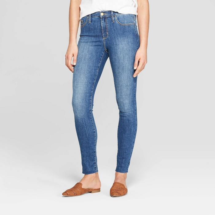 Women's High-Rise Skinny Jeans - Universal Thread™ Medium Wash - image 1 of 3