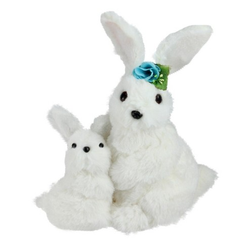 """17f81a551b1be Northlight 10"""" Plush Mother And Baby Easter Bunny Rabbit Spring Figure  -White Blue   Target"""