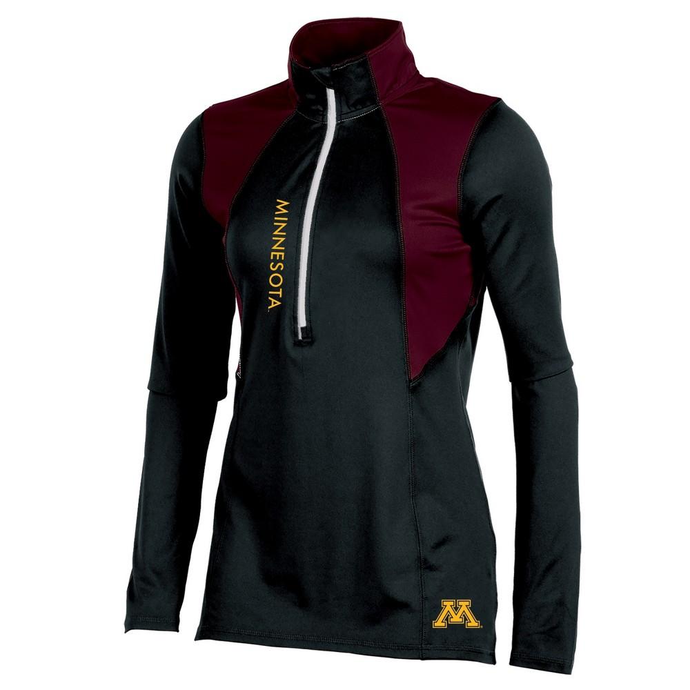 Minnesota Golden Gophers Women's Long Sleeve 1/2 Zip Performance Sweatshirt - S, Multicolored