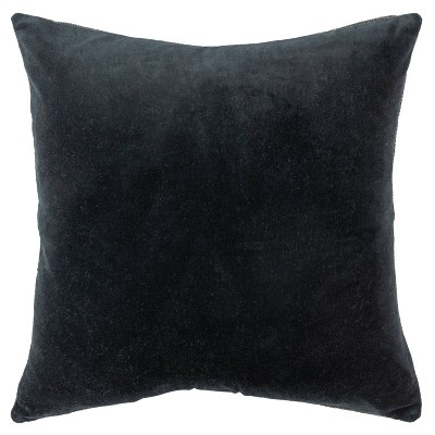 """22""""x22"""" Oversize Solid Square Throw Pillow Black - Rizzy Home"""