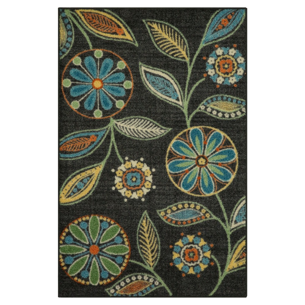 "Image of ""2'6""""X3'10"""" Floral Tufted Accent Rug - Maples"""