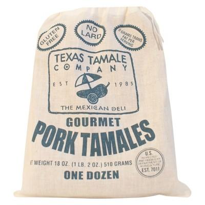 Texas Tamale Company Gluten Free Frozen Gourmet Pork Tamales - 18oz