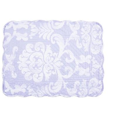 C F Home Alexa Damask Cotton Quilted Rectangular Reversible 13 X 19 Placemat Set Of 6 Target