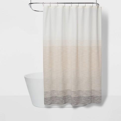 Edye Shower Curtain Beige Ombre