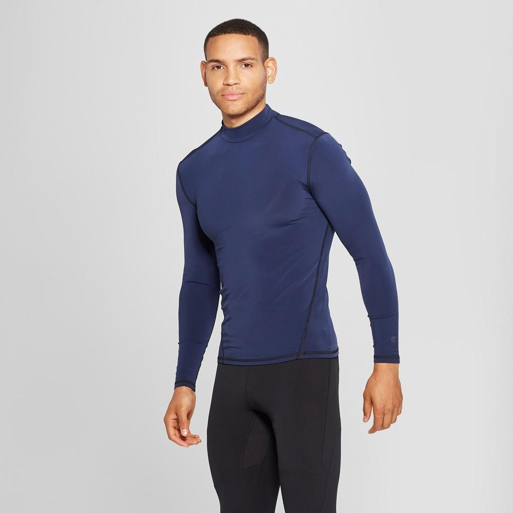 Men's Long Sleeve Mock Neck Compression T-Shirt - C9 Champion Navy (Blue) Xxl
