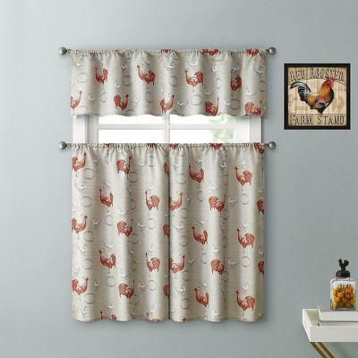 Rooster Kitchen Curtains Target