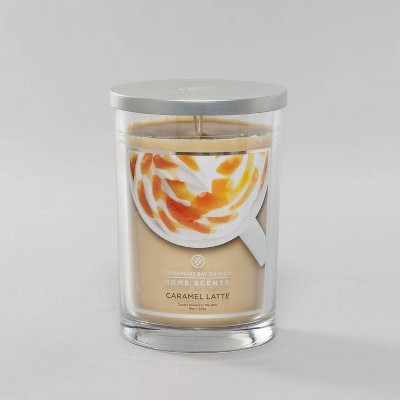 Glass Jar Caramel Latte Candle - Home Scents