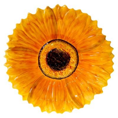 Certified International French Sunflowers 3-D Sunflower Platter (15.25 )
