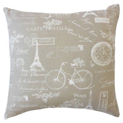 Textured Square Throw Pillow Gray - The Pillow Collection