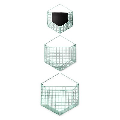 Wire Wall Storage Hexagon 3pk - Cloud Island™ - Mint