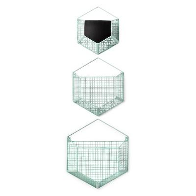 Beau Wire Wall Storage Hexagon 3pk   Cloud Island™   Mint