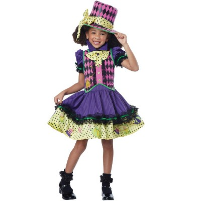California Costumes Deluxe Mad Hatter-ess Child Costume