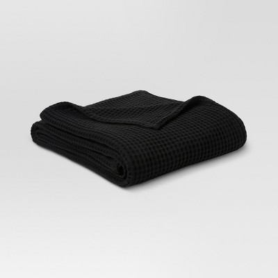 Waffle Weave Bed Blanket (Full/Queen)Black - Threshold™