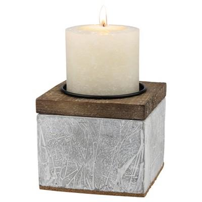 Cement Pillar Candle Holder Gray Small - CKK Home Décor®