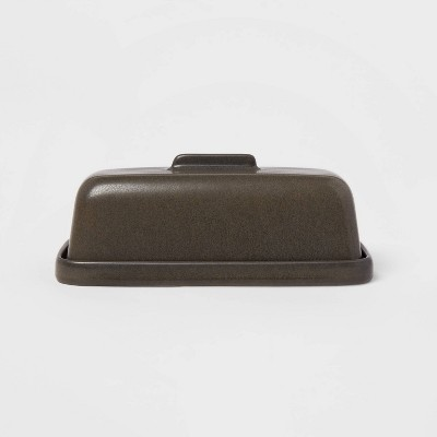 Stoneware Tilley Butter Dish Black - Project 62™