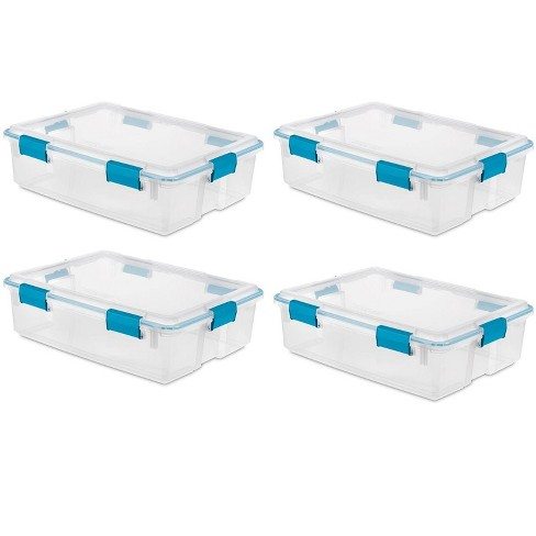 Sterilite 19314304 37 Quart Thin Latched Gasket Plastic Storage Bin ( 4 Pack) - image 1 of 4