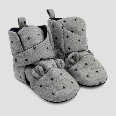 Baby Bear Crib Shoes - Cloud Island™ Gray 3-6M