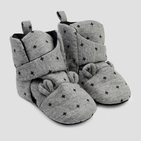 Baby Bear Crib Shoes - Cloud Island™ Gray - image 1 of 1