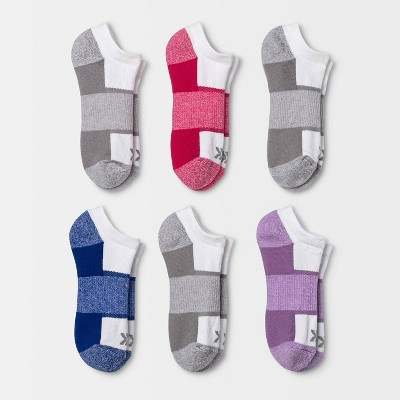 Women's Cushioned Marled Arch 6pk No Show Athletic Socks - All in Motion™ 4-10
