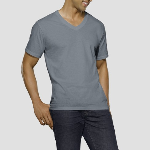 e7134865 Fruit Of The Loom Men's V-Neck T-Shirt 5pk - Black/Gray : Target