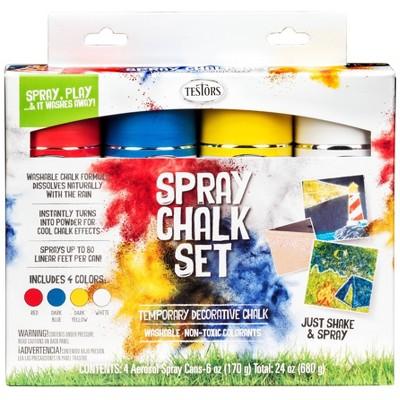 As Seen on TV 6oz Testors Spray Chalk Set - Primary