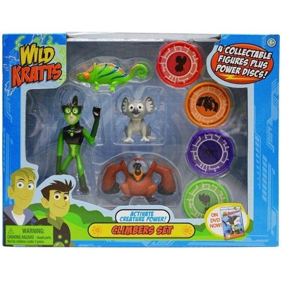 Jazwares Wild Kratts Action Figure Toy Set - Activate Creature Power - Climbers, Set of 4