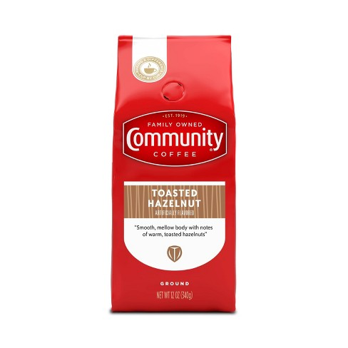 Community Coffee Toasted Hazelnut Medium Dark Roast Ground Coffee - 12oz - image 1 of 4