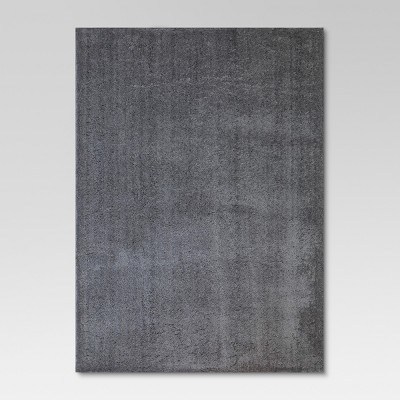 5'X7' Solid Tufted Micropoly Shag Area Rug Gray - Project 62™