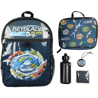 Beyblade Burst Spinner Tops Backpack Lunch Bag Water Bottle 5 PC Mega Set