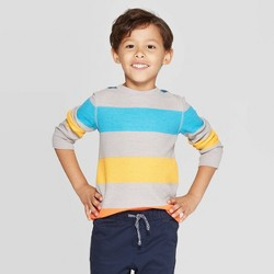 Toddler Boys' Striped Thermal Long Sleeve T-Shirt - Cat & Jack™