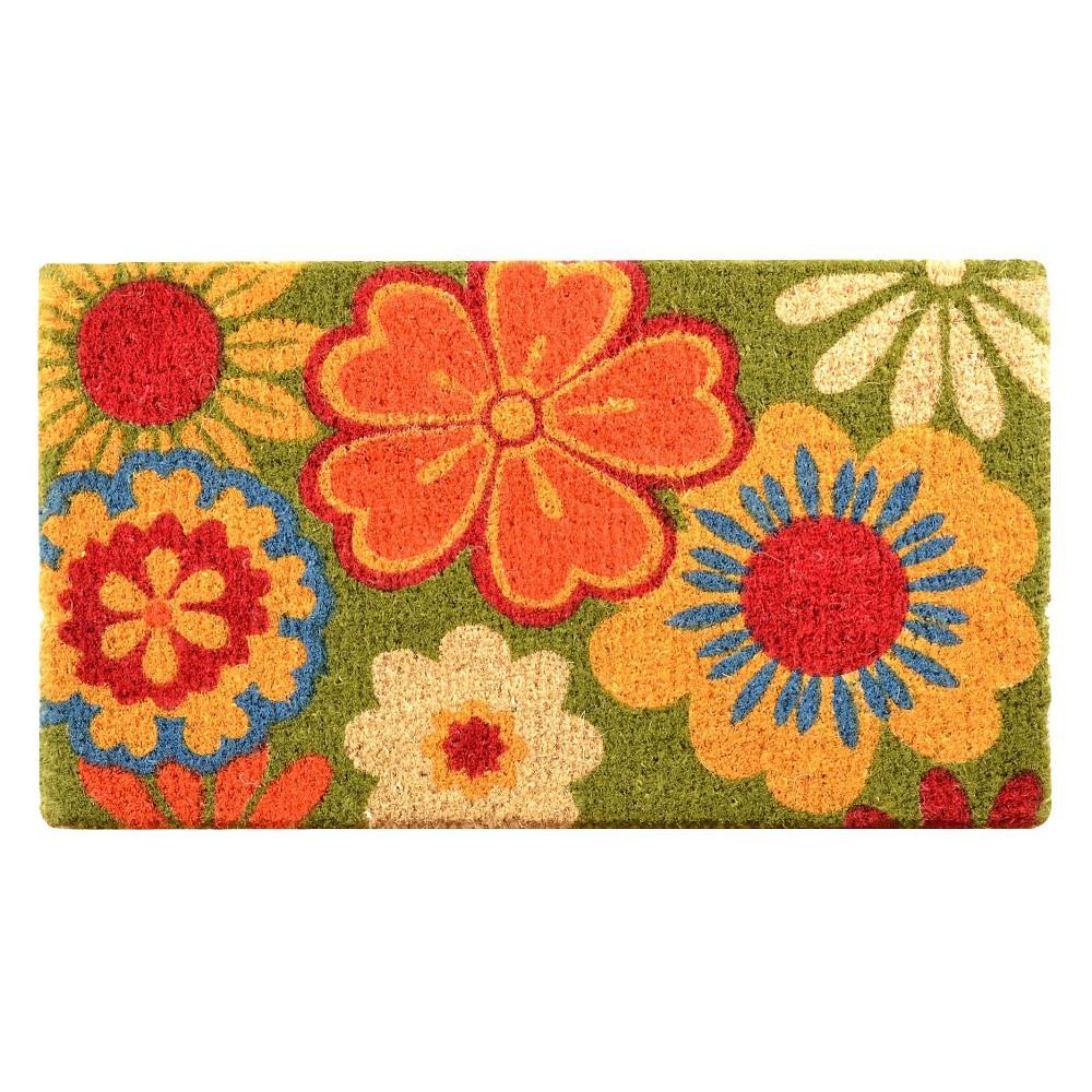 HomeTrax Coir Mat Doormat - Summer Flower (18
