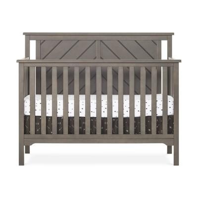 Forever Eclectic Hampton Flat Top 4-in-1 Convertible Crib - Dapper Gray